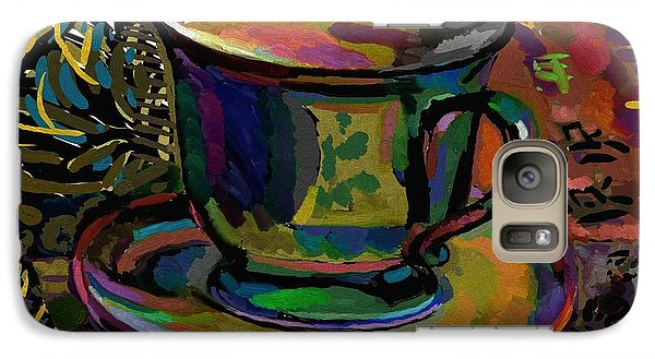 Galaxy Case featuring the digital art Teacup Study 1 by Clyde Semler