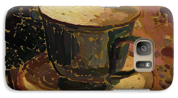 Galaxy Case featuring the digital art Teacup Study 2 by Clyde Semler