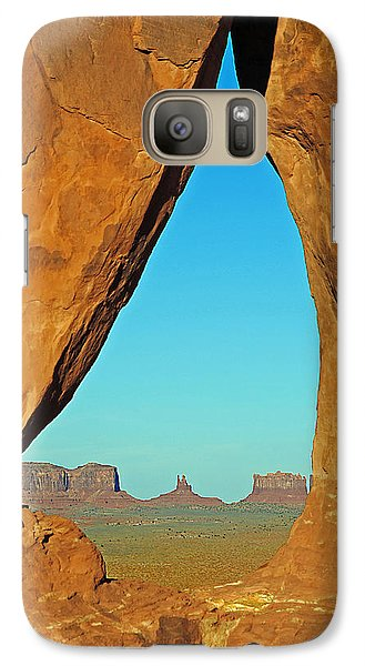 Galaxy Case featuring the photograph Tear Drop Arch Monument Valley by Jeff Brunton