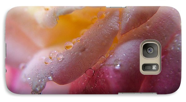 Galaxy Case featuring the photograph Teardrop Of A Rose by Kathy Churchman