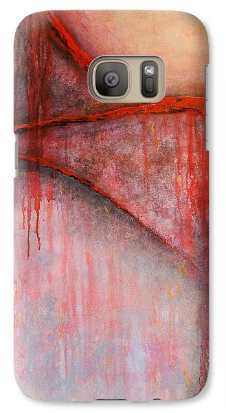 Galaxy Case featuring the painting Tears Of War by Michelle Joseph-Long