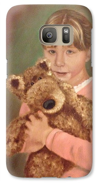 Galaxy Case featuring the painting Teddy Bear by Sharon Schultz