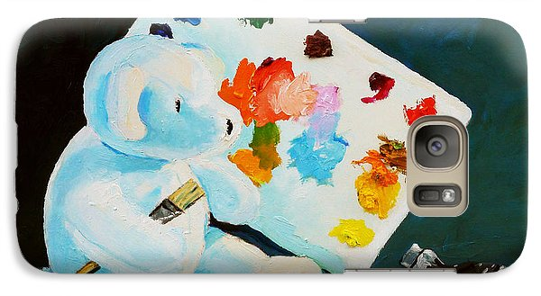 Galaxy Case featuring the painting Teddy Behr The Painter #1 by Dan Redmon