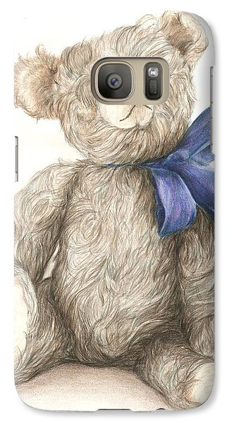 Galaxy Case featuring the drawing Teddy Study 2 by Meagan  Visser