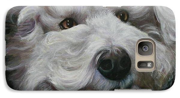 Galaxy Case featuring the painting Teddy The Bichon by Melinda Saminski