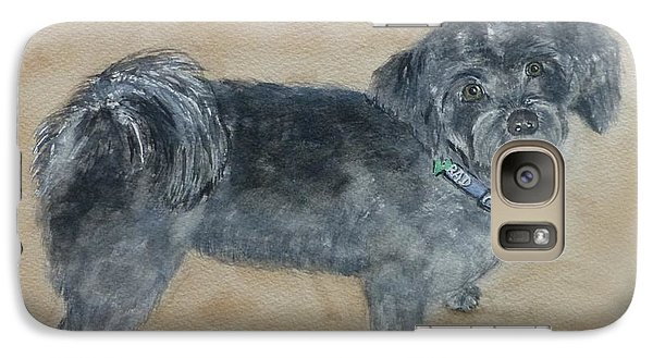 Galaxy Case featuring the painting Maltese Puppy  by Kelly Mills