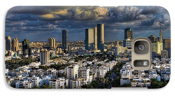 Galaxy Case featuring the photograph Tel Aviv Skyline Fascination by Ron Shoshani