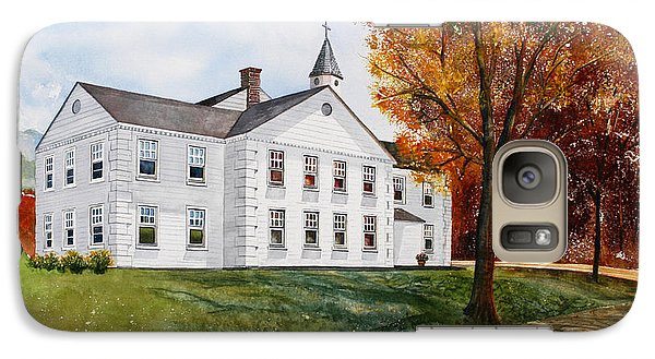 Galaxy Case featuring the painting Tellico First Methodist by Arthaven Studios