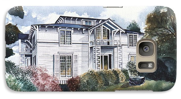 Galaxy Case featuring the painting Tellico Johnson Mansion  by Arthaven Studios
