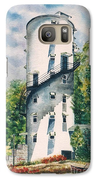 Galaxy Case featuring the painting Tellico Roundhouse by Arthaven Studios by Teri Atkins Brown