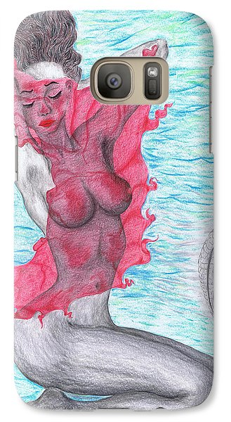 Galaxy Case featuring the drawing Temperate Satin Breeze by Kenneth Clarke