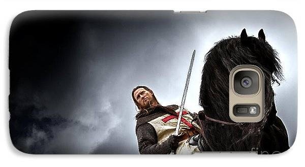 Templar Knight Friesian II Galaxy S7 Case by Holly Martin