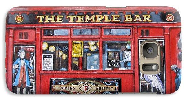 Galaxy Case featuring the painting Temple Bar Dublin Ireland by Melinda Saminski