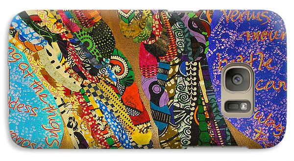 Galaxy Case featuring the tapestry - textile Temple Of The Goddess Eye Vol 1 by Apanaki Temitayo M