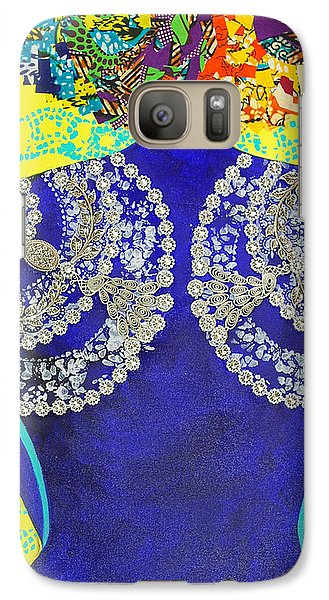 Galaxy Case featuring the tapestry - textile Temple Of The Goddess Eye Vol 3 by Apanaki Temitayo M