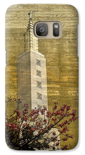 Galaxy Case featuring the photograph Temple With Red by Kevin Bergen