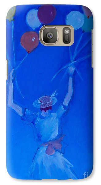 Galaxy Case featuring the painting Ten Balloons by Diane Ursin