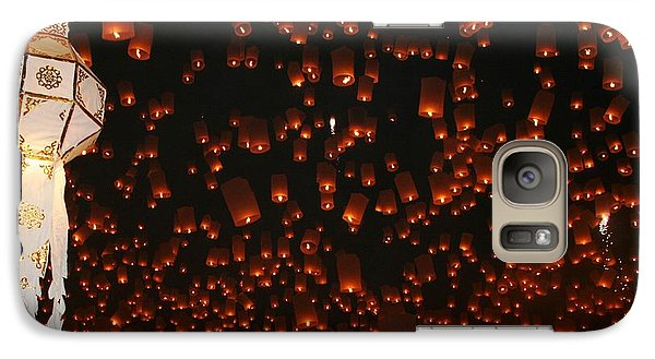Galaxy Case featuring the photograph Ten Thousand Lantern Launch by Nola Lee Kelsey