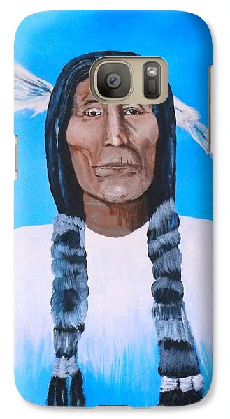 Galaxy Case featuring the painting Chief Wolf Robe by Donna Dixon
