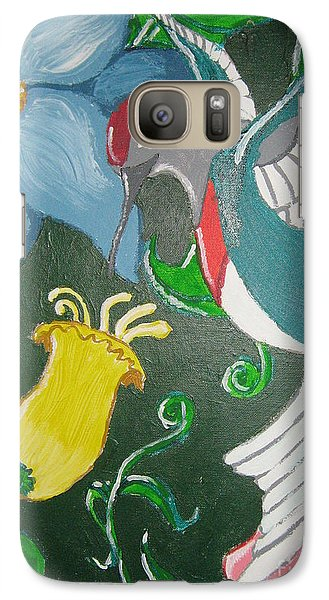 Galaxy Case featuring the painting Tending The Garden by Wendy Coulson