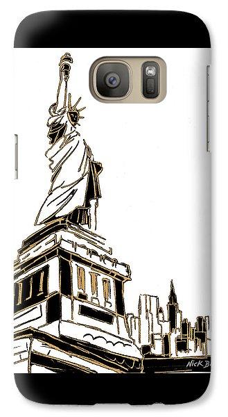 Tenement Liberty Galaxy S7 Case by Nicholas Biscardi