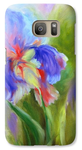 Galaxy Case featuring the painting Tennessee Iris by Carol Berning