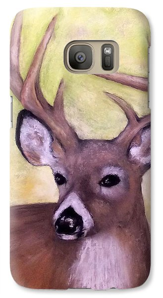 Galaxy Case featuring the painting Tennessee Wild Life - Buck by Annamarie Sidella-Felts