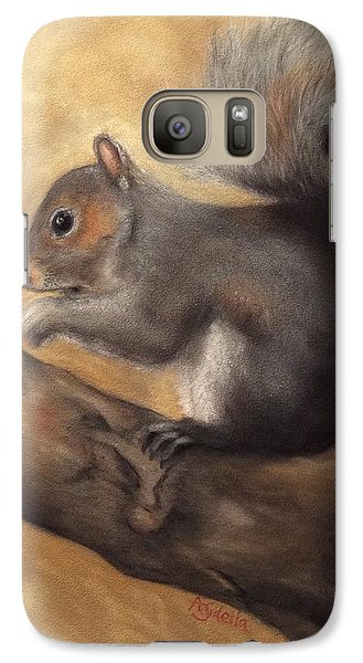 Galaxy Case featuring the painting Tennessee Wildlife - Gray Squirrels by Annamarie Sidella-Felts