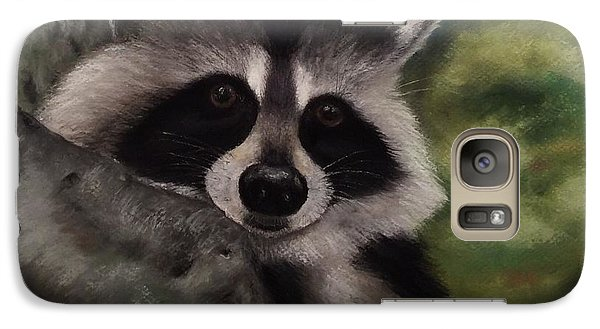Galaxy Case featuring the painting Tennessee Wildlife - Raccoon by Annamarie Sidella-Felts