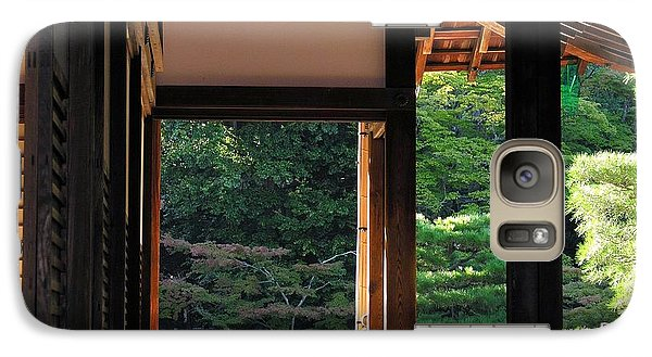 Galaxy Case featuring the photograph Tenryui-ji - Temple - Kyoto by Jacqueline M Lewis