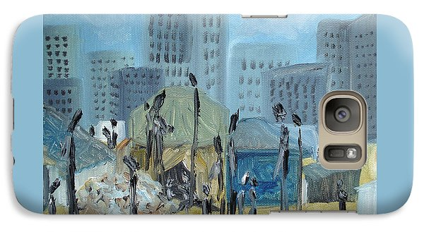Galaxy Case featuring the painting Tent City Homeless by Judith Rhue