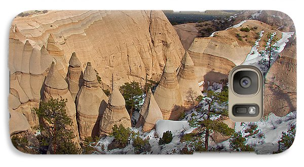 Galaxy Case featuring the photograph Tent Rocks National Monument by Britt Runyon