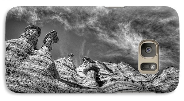 Galaxy Case featuring the photograph Tent Rocks No. 1 Bw by Dave Garner