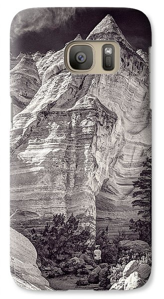 Galaxy Case featuring the photograph Tent Rocks No. 2 Bw by Dave Garner