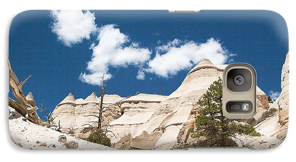 Galaxy Case featuring the photograph High Noon At Tent Rocks by Roselynne Broussard