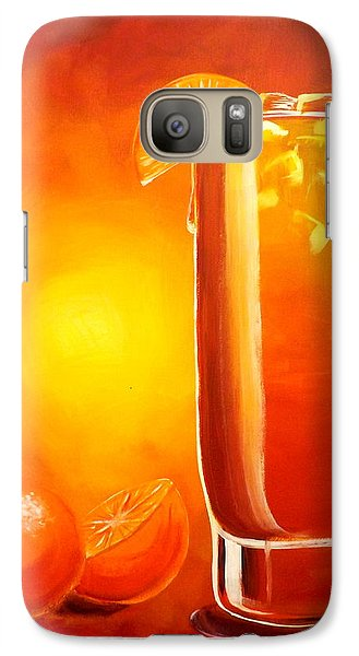 Galaxy Case featuring the painting Tequila Sunrise by Darren Robinson