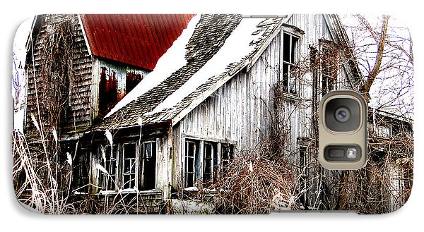 Galaxy Case featuring the mixed media Terrance Laird Farm House Thedford by Bruce Ritchie