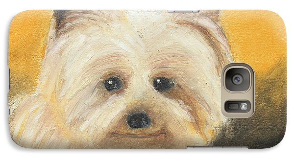 Galaxy Case featuring the painting Terrier by Jeanne Fischer