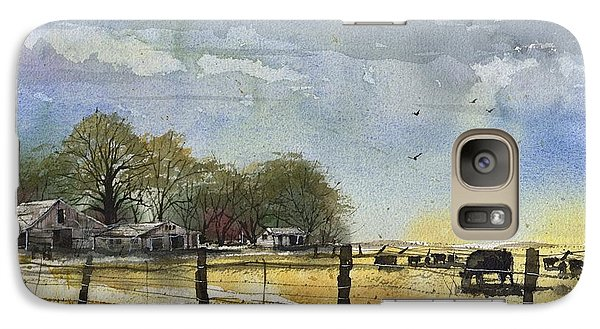 Galaxy Case featuring the painting Terry County Rancho by Tim Oliver