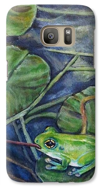 Galaxy Case featuring the painting Testing The Waters by Kimberlee Baxter