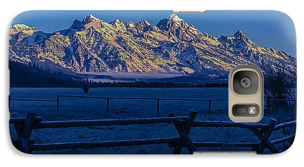 Galaxy Case featuring the photograph Teton First Light by Yeates Photography