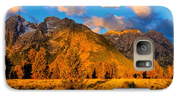 Galaxy Case featuring the photograph Teton Mountain View Panorama by Greg Norrell
