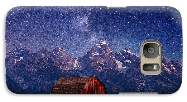 Mountain Galaxy S7 Case - Teton Nights by Darren  White