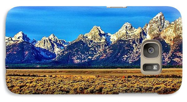 Galaxy Case featuring the photograph Teton Panorama by Benjamin Yeager