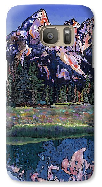 Galaxy Case featuring the painting Teton Summer by Bob Coonts