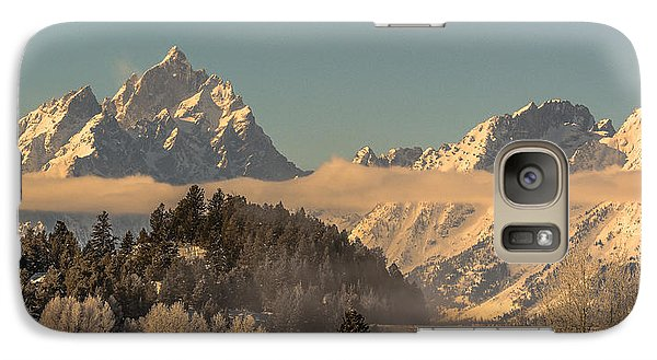 Galaxy Case featuring the photograph Tetons At Jackson Lake Dam by Yeates Photography