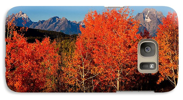 Galaxy Case featuring the photograph Tetons Colors Of Autumn by Aaron Whittemore