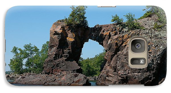 Galaxy Case featuring the photograph Tettegouche Arch By Kayak by Sandra Updyke