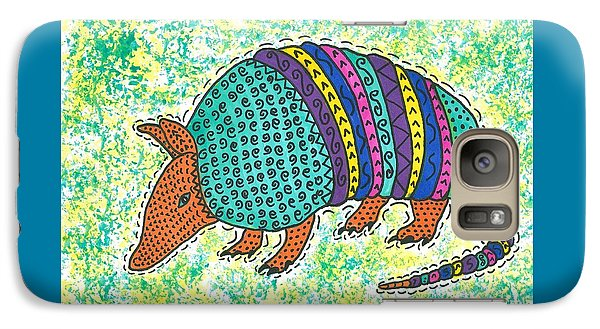Galaxy Case featuring the painting Texas Armadillo by Susie Weber