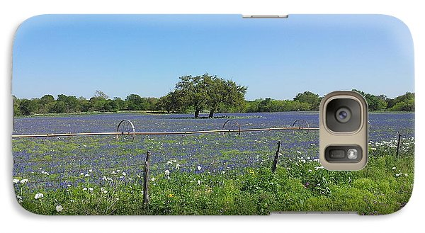 Galaxy Case featuring the photograph Texas Blue Bonnets by Shawn Marlow